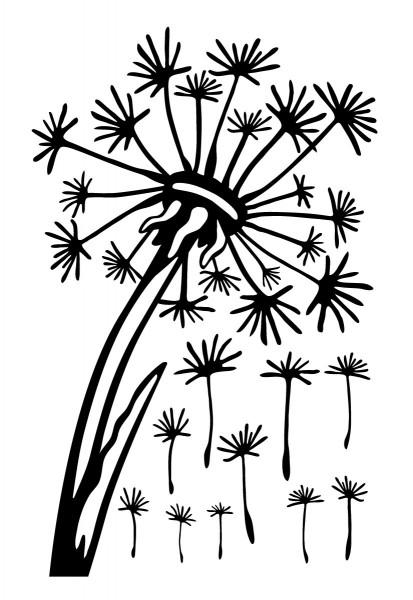 Wandtattoo Pusteblume - Samen frei platzierbar #169