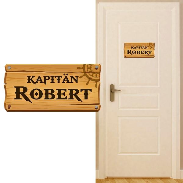 Türschild Kinderzimmer Kapitän farbig Motiv #157
