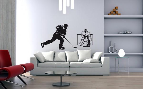 Wandtattoo Eishockey Motiv #116 - Schwarz