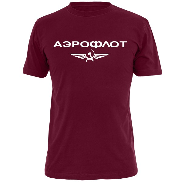 Aeroflot Shirt - Burgund