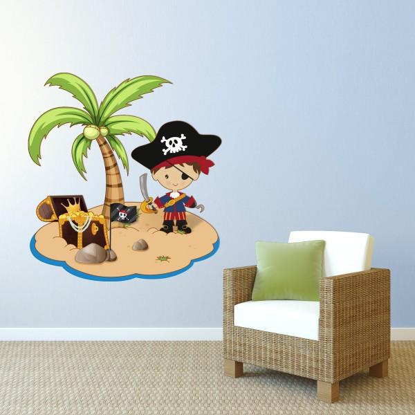Pirateninsel Schatzinsel farbig Motiv #152