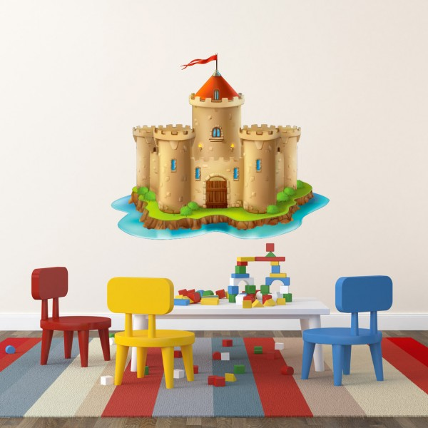 Ritterburg Burg farbig Motiv #156