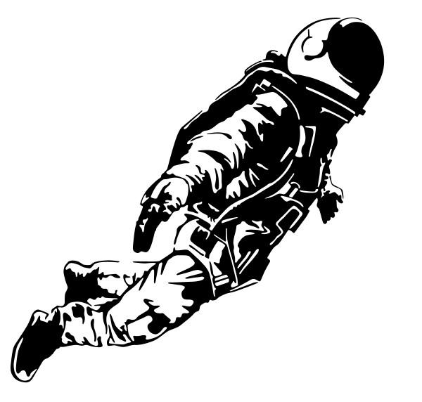 Wandtattoo Astronaut Motiv #201 - Schwarz