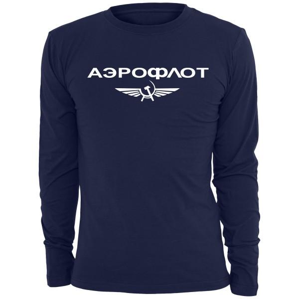 Aeroflot Longsleeve - Navy