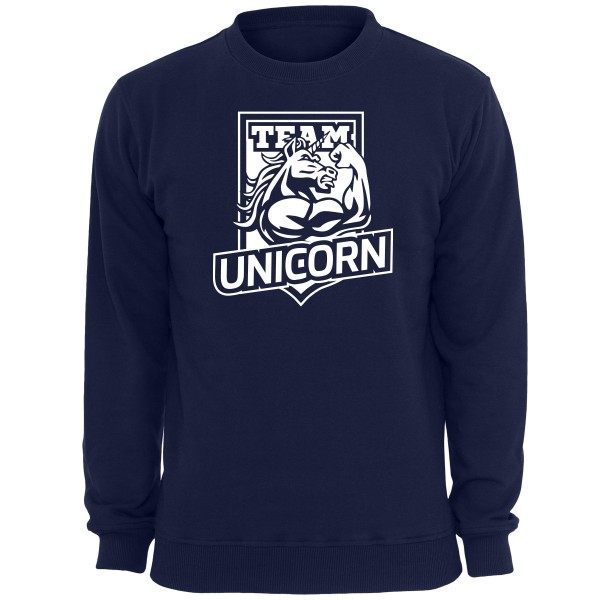 UNS001 - Unicorn Sweatshirt Einhorn - Navy