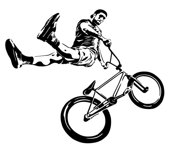 Wandtattoo Profi BMX Fahrer Motiv #197