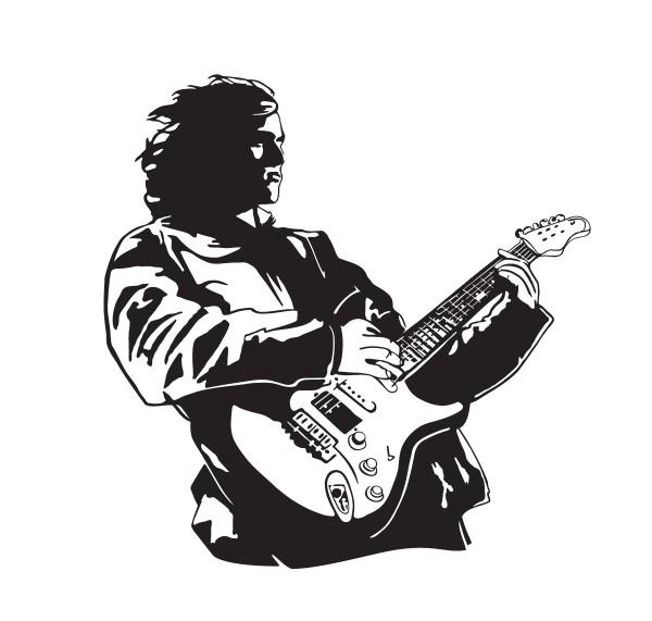 Wandtattoo Gitarrist Motiv #167 - Schwarz