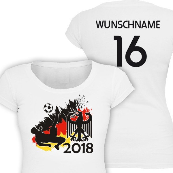 Fussball WM 2018 - Girl-Shirt