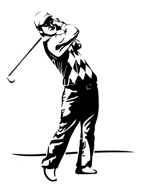 Wandtattoo Golfer Golfspieler - Abschlag #177