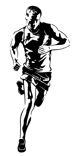 Wandtattoo Läufer Motiv #191 - Schwarz