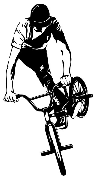 BMX - Fahrer Motiv #170 - Schwarz