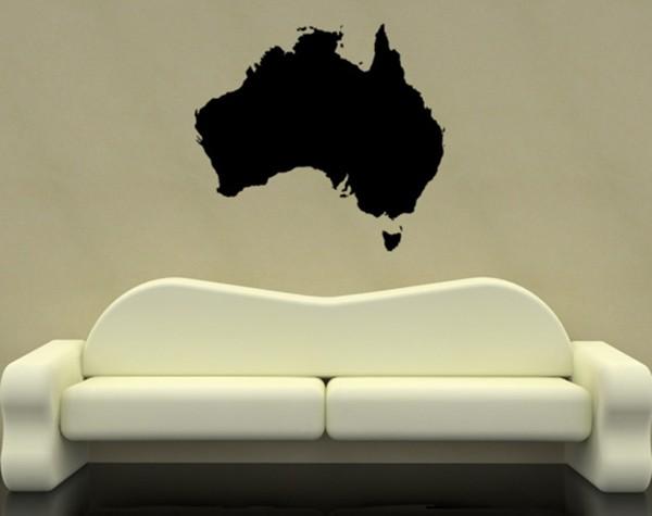 Australien Karte Motiv #304 - Schwarz