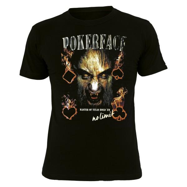 PMS001-Poker-Shirt - Schwarz