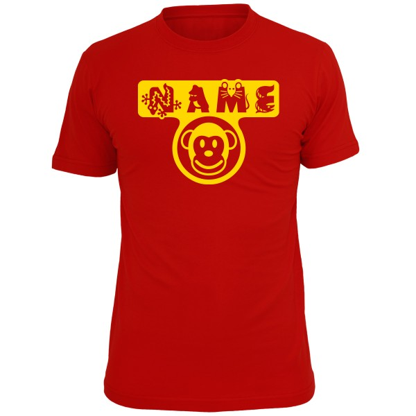 Kinder T-Shirt Affe Rot