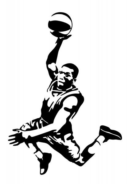 Basketballer Motiv #115 - Schwarz