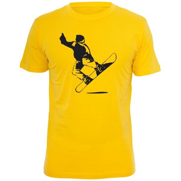 Snowboarder Shirt - Gelb