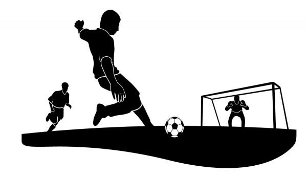 Wandtattoo Fussball Torschuss #93 - Schwarz