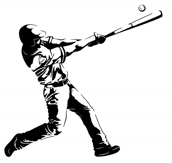 Wandtattoo Baseball Motiv #189 - Schwarz