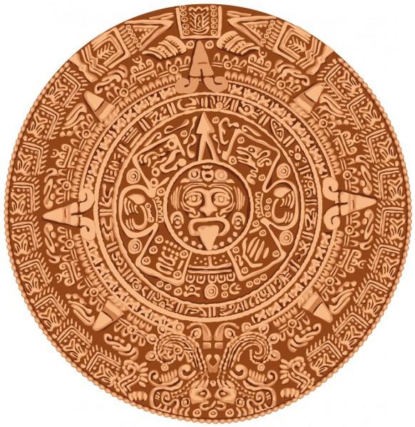 Wandtattoo Maya Kalender farbig Motiv #110