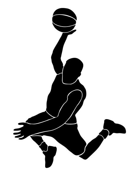 Wandtattoo Basketballer Motiv #121 - Schwarz