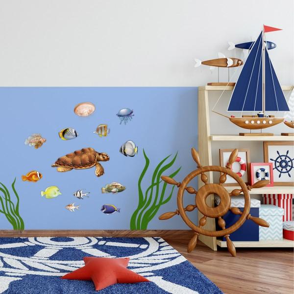 Meerestiere Fische farbig Motiv #131