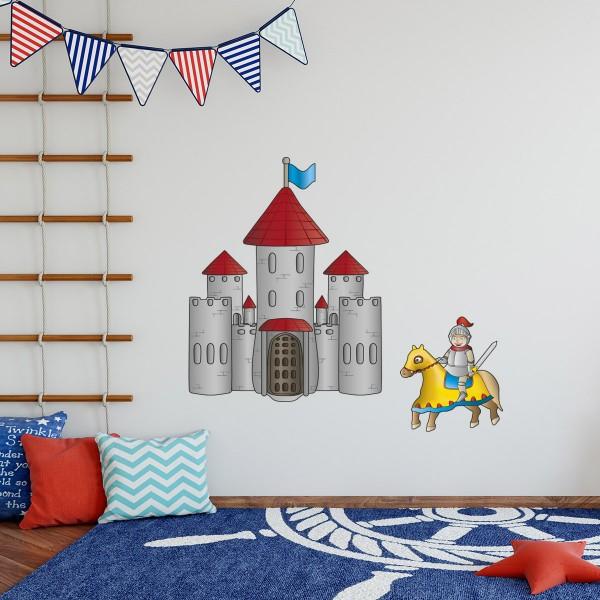Ritter und Burg farbig Motiv #158