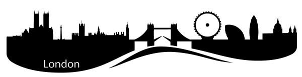 Wandtattoo London Skyline mit Sehenswürdigkeiten Motiv #159