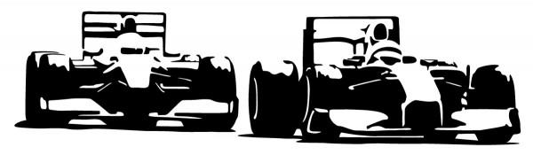 Wandtattoo Rennwagen Formel 1 Motiv #97 - Schwarz