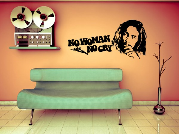 Bob Marley No Woman No Cry Motiv #78 - Schwarz