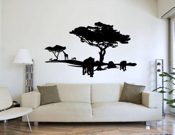 Afrika Wüste Löwen Motiv #86 - Schwarz
