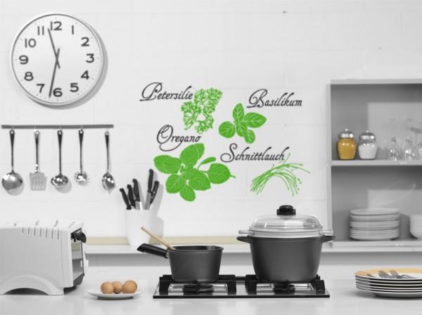 Wandtattoo Sticker Gewürze für Küchenwand Motiv #76