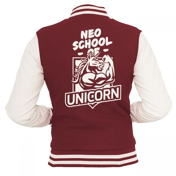 Team Unicorn Einhorn Collegejacke Damen