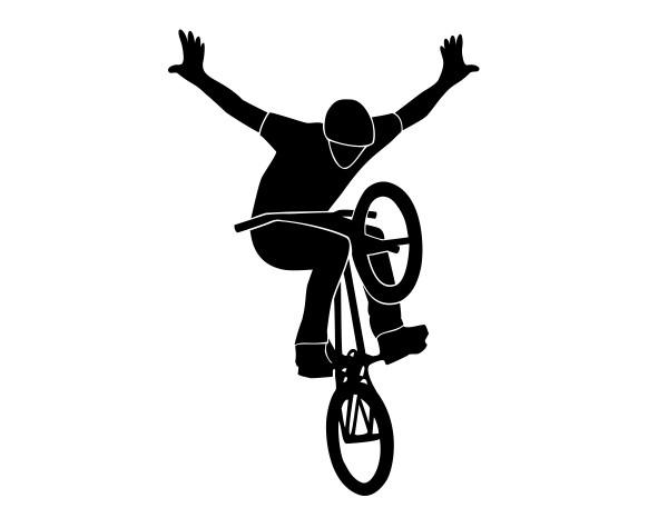 Wandtattoo Profi BMX Fahrer Motiv #199 - Schwarz