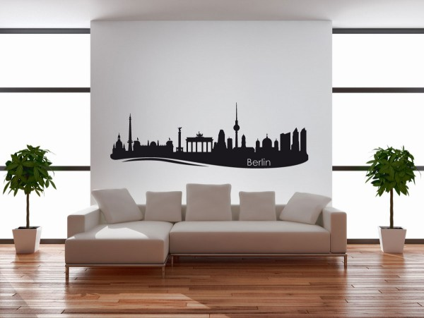 Wandtattoo Berlin Skyline mit Sehenswürdigkeiten Motiv #136
