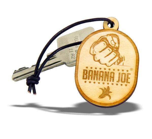 Original Banana Joe Schlüsselanhänger aus Natur-Holz Birke