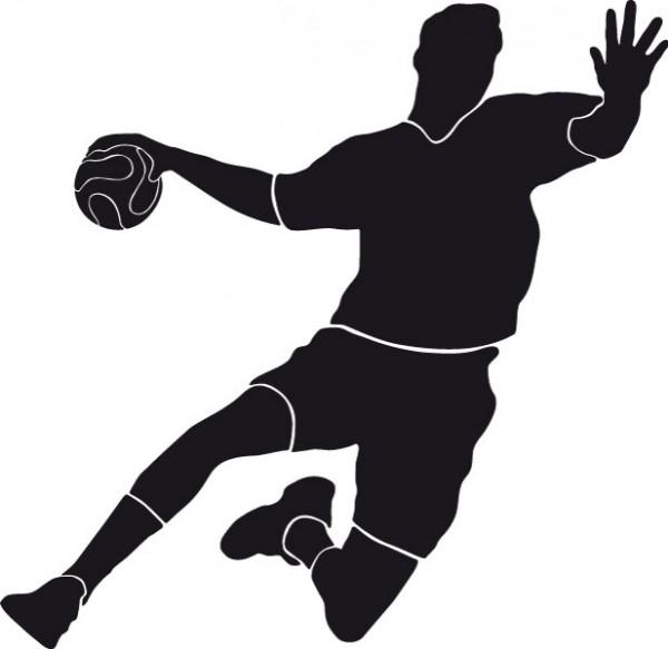 Wandtattoo Handballer Torschuss #120 - Schwarz