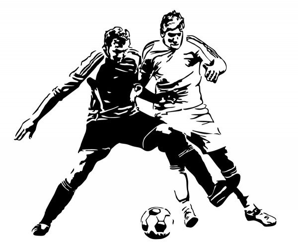 Fussball Zweikampf Motiv #92 - Schwarz