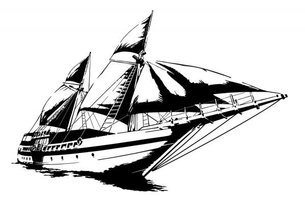 Wandtattoo Segelyacht Motiv #204