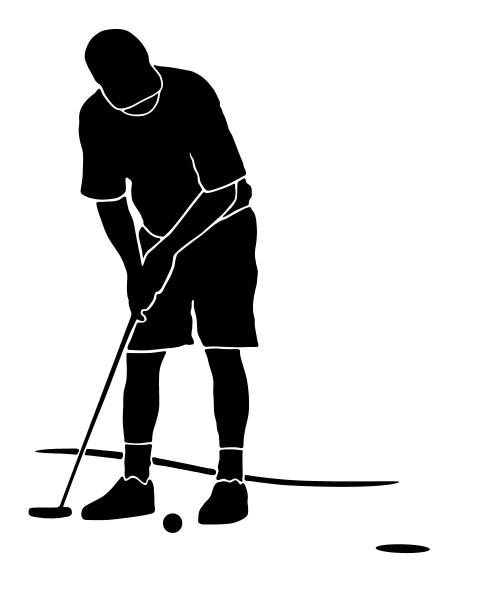 Wandtattoo Golfer Golfspieler Abschlag Motiv #175