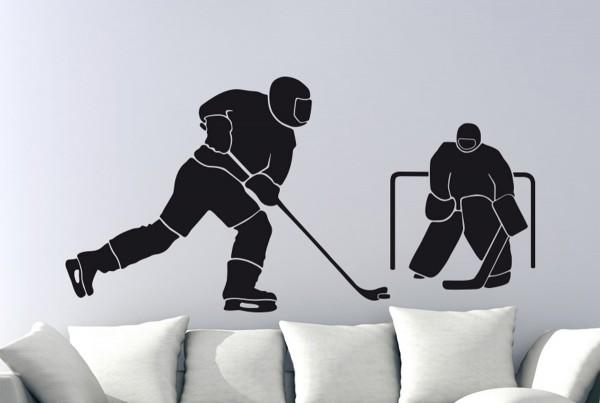 Eishockey Motiv #123 - Schwarz
