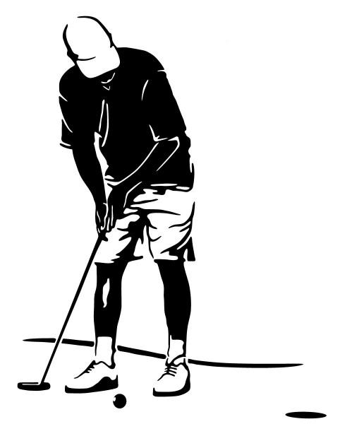 Wandtattoo Golfer Golfspieler beim Abschlag #174