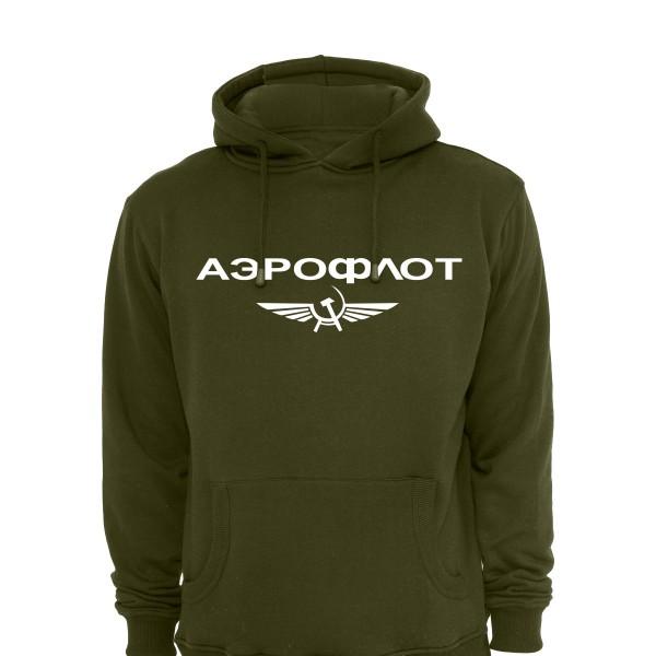 Aeroflot Hoody - Khaki